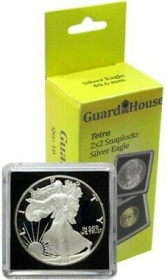 10 PACK Guardhouse 2x2 Tetra Snaplocks - SILVER EAGLES - No Cardboard Packaging