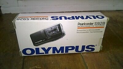 Olympus S928 MicroCassette Pearlcorder Voice Recorder Dictaphone Dictation Black