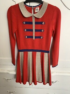 Mini Boden Girls Knitted Dress Age 6-7 Years