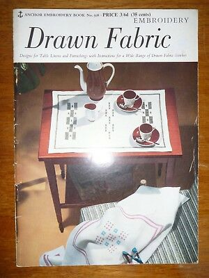 Anchor Embroidery Book No 508 - Drawn Fabric - Designs For Table Linens Etc..