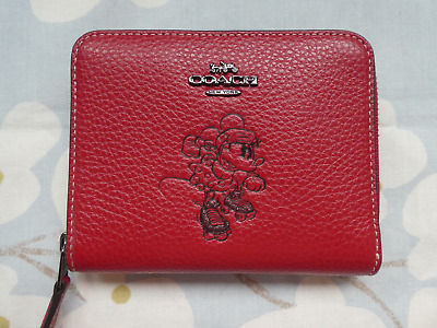 Purse by Coach in Red Leather, part of Coach Disney Collection.