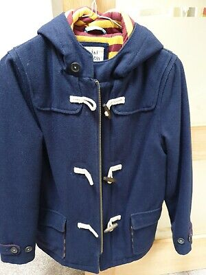 Mini Boden Boys Duffle Coat Age 9-10 navy Blue