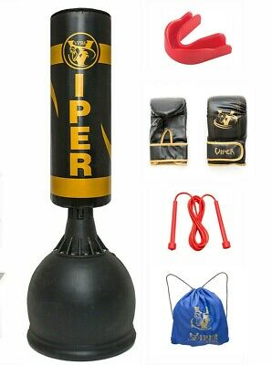 Viper Filled Kids Free Standing Boxing Punch Bag Set Gloves Junior Children