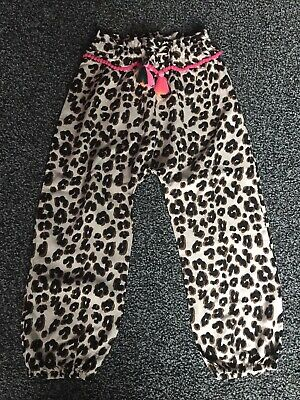 Gorgeous NEXT girls Leopard Print Neon Light Weight  Trousers Age 4-5yrs
