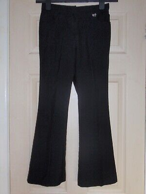 Girls black school trousers age 11 yrs with front pockets by TU