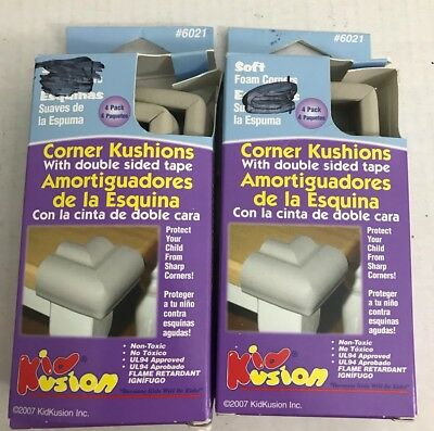 KidKusion Corner Cushions Kushions Indoor Or Outdoor 4 Pack Lot Of 2