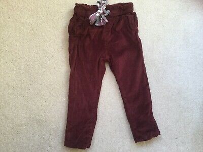 Zara Corduroy Trousers - Size 24-36 - (94cms) in VGC