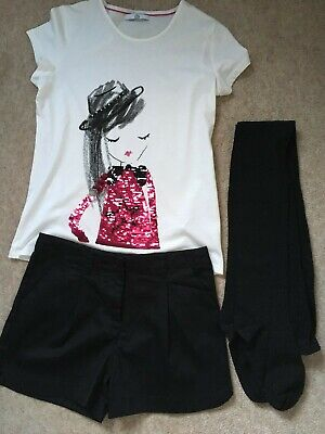 Girls Shorts/ Tights/ Top Outfit Next M&S Age 12-13 Years NEW