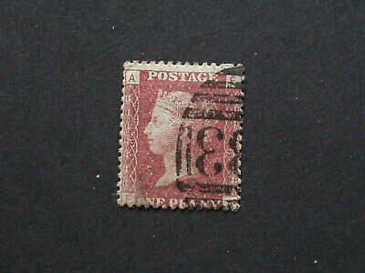 1858-79,Sg 43,1d Penny Red, plate140, Letters FA ,Good Used
