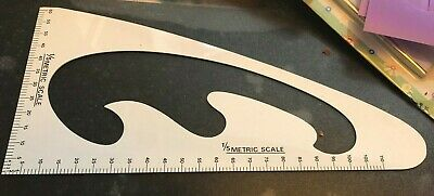 Eastman Drawing Template Tool Plastic French Curve Ruler Metric Scale
