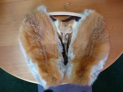 Fox fur stole - cape red fox - double pelt in beautiful condition