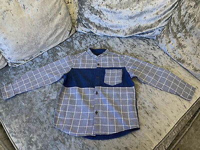 Boys Blue Next Shirt Age 4 Years *Great Condition*