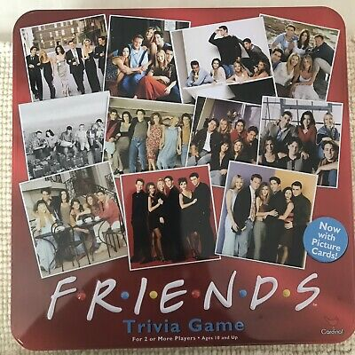 Vintage Friends TV Show Trivia Game – Red Collectible Tin 100% Complete Pristine