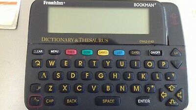 Franklin Bookman Dictionary & Thesaurus in a Used Condition.