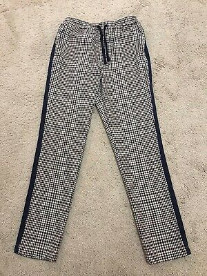 River Island Girls Brown/black/white Plaid Trousers Age 10