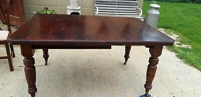 Mahogany Wind Up Extendable Table On Casters no key (project )