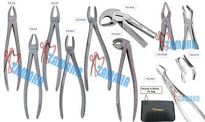 Dental Extraction Forceps Tooth Extracting Lower Upper Molar ,Root Anterior x 10