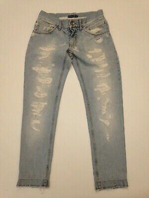 D&G DOLCE&GABBANA  Destroyed Low Rise Jeans Tg. 44