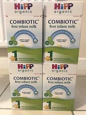 HiPP Organic Combiotic First Infant Milk Stage 1 UK Version 800g 4 BOXES W SHIP