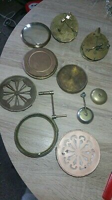Job Lot Of Clock Parts and Two French Movements. For Spares or Repair.