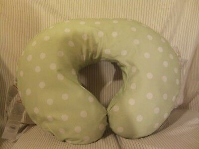 Boppy Pillow~Green and White