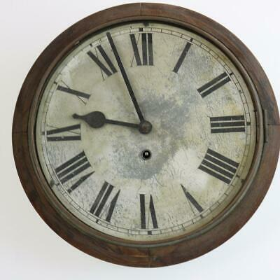 "VINTAGE 12"" DIAL WALL CLOCK for restoration SCHOOL, RAILWAY, STATION OFFICE type"