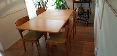 Vintage Heywood Wakefield Dining Table & Chairs Original Condition No Reserve