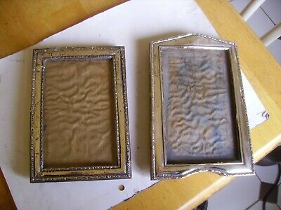 Two vintage silver hallmarked photo frames with wooden framework 1945-46.
