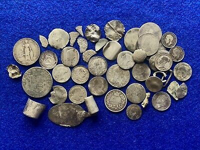 Large Group Of Medieval To Post Med Silver Coins & Scrap Silver, 116.41 Grams