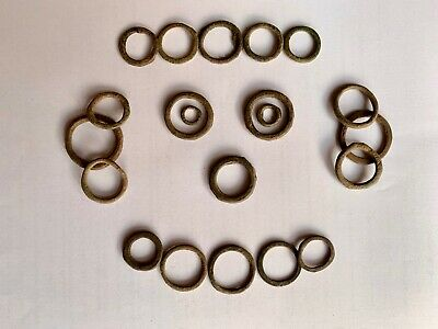 Metal Detecting Finds Collection - Medieval Harness Rings