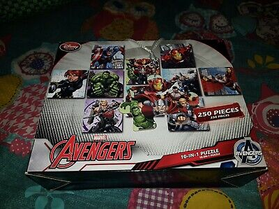 Disney Store 10 In 1 Puzzle Marvel Avengers puzzles 250 pieces.