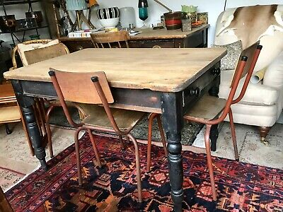 Victorian Dining Table Scrubbed Pine
