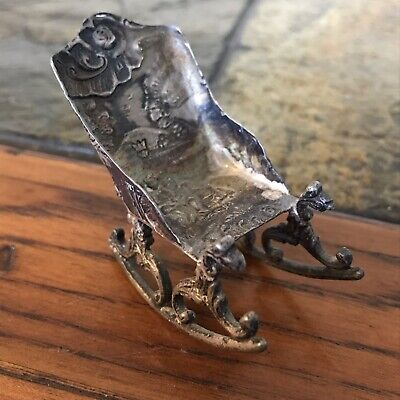 Antique Sterling Miniature Rocking Chair Germany