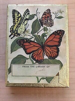 Set of 16 Vintage Antioch Butterfly book plates