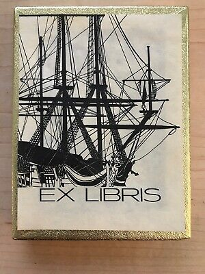 Set of 50 Vintage Antioch Tall Ship book plates