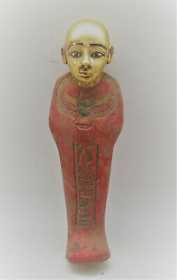 Scarce Circa 1000-500Bce Ancient Egyptian Gold Gilded Ushabti Shabti