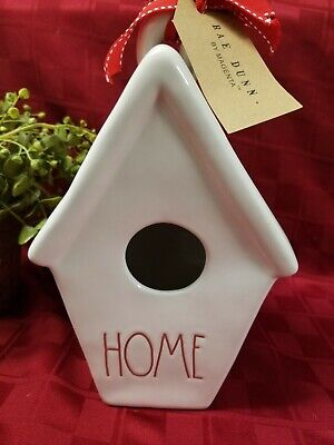 """""""New"""" Rae Dunn By Magenta Christmas """"HOME Pinecone"""" Birdhouse (Double Sided) HTF"""