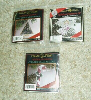 Mill Hill Counted Glass Bead Kit Lot Of 3 - New In Package!