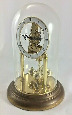 Pendulum 400 Days Hermle Skeleton Globe Glass No 86 987 Made in Germany A547