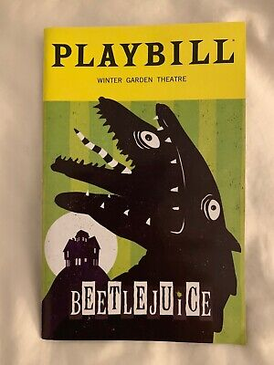 BEETLEJUICE PLAYBILL Broadway Theater Stage Musical Original Cast TONY AWARDS NY