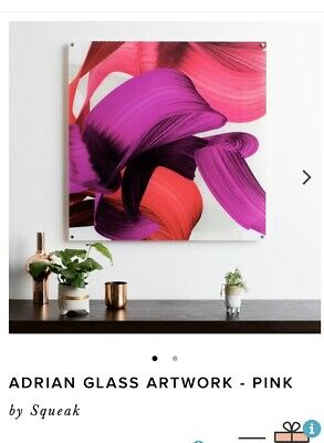 Adrian Glass Artwork Pink By Squeak RRP$195