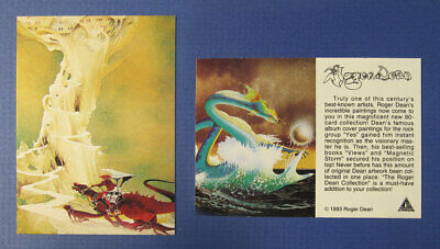 Promotional card for Roger Dean's 1993 set of 90 trading cards. exc. condition!