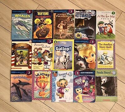 RANDOM Lot of 15 LEVEL 3 Early Readers Learning Childrens Books Paperback Girl