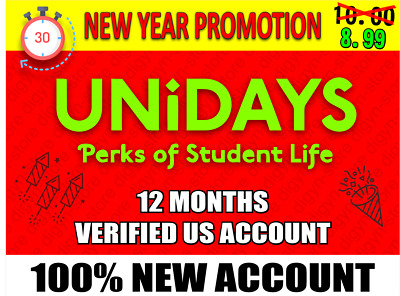 Unidays Student Discounts & Offers |Verified US Account|DELIVERY IN 30 MINUTES|