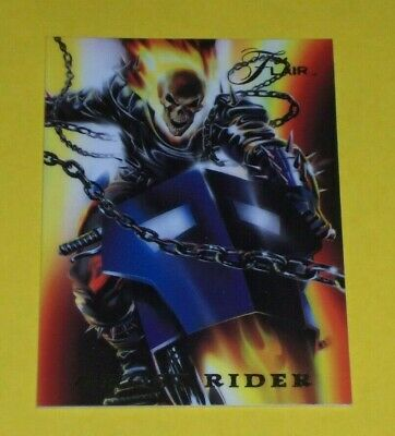 1994 ghost rider X1 from FLAIR MARVEL ANNUALS POWER BLAST #9 OF 18 INSERT CARD