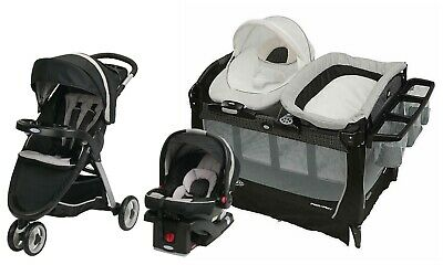 Graco Baby Boy Stroller With Car Seat Travel System Combo Playard