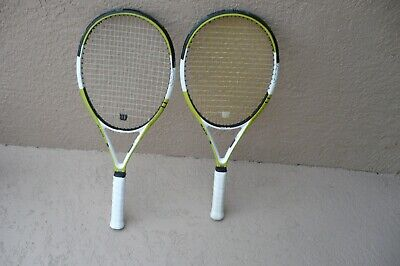 """Lot of Two (2) WILSON  NCODE NPRO 98 N PRO - 4 1/2"""" Grip Size - Tennis Rackets"""