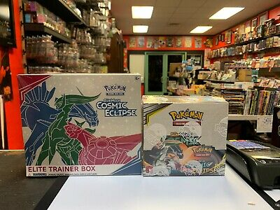 Pokemon Sun & Moon Cosmic Eclipse Tcg Sealed Booster Box + Elite Trainer