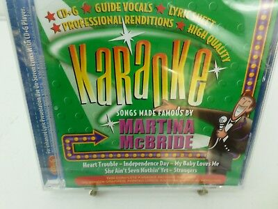 BCI Martina McBride Karaoke CD+G player needed new sealed