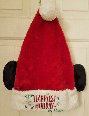 Disney Parks Mickey Light Up Santa Hat Christmas Holiday